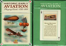 Historic Early Aviation 1783-1909 Playing Cards Unique Size Deck USGS Custom New