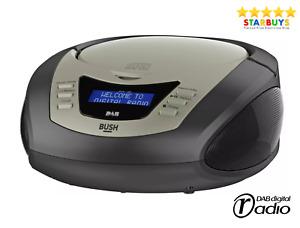 Bush CD Player DAB & FM Radio Traditional Mini Micro Shelf Stereo System - Black