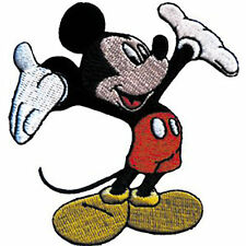 "Mickey Mouse Tada 2.75"" x 3"" Logo Sew Ironed On Badge Embroidery Applique Patch"
