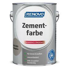 RENOVO Zement-Farbe 2,5L RAL 7030 Steingrau für innen und außen wasserbasiert