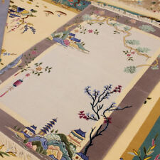 YILONG 3'x4.7' Lovely Hand Woven Wool Carpet Chinese Art Deco Tapestry Area Rug