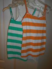 LOT OF 3 SO Juniors Size S Authentic American Perfect Cami Green/Orange/White