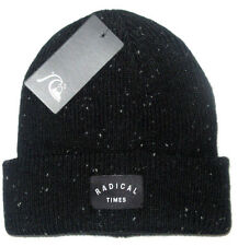 MENS QUIKSILVER RADICAL TIMES BEANIE HAT BLACK CAP ONE SIZE