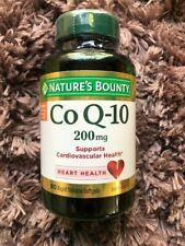 Nature's Bounty CoQ10 Suplemento dietético 80 cápsulas de 200 MG cada 07/2021 fresco!