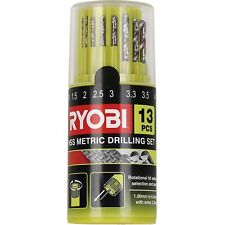 Ryobi 13-PIECE METRIC HIGH SPEED STEEL DRILL BIT SET RHSS-13M Impact Rated