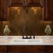 Peel And Stick Tile Bronze Self Adhesive Metal Accent Wall Kitchen Backsplash