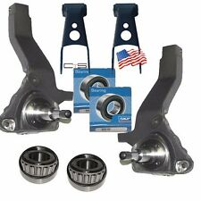 "4"" Spindles 2"" Rear Shackles Lift Kit 2001-2011 Ford Ranger 4x2 w/Outer Bearings"