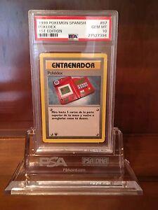 Pokemon Spanish Base Set PSA 10 GEM MINT 1st Edition Pokedex (Pokedex)