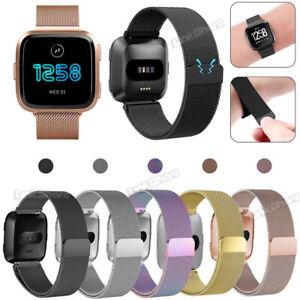 For Fitbit Versa / Versa Lite Metal Milanese Magnetic Loop Mesh Wrist Watch Band