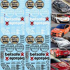 Gumball 3000 Rallye Decals Street Racing White & Black 1:3 2 Decal