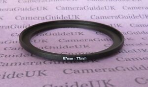 67mm to 77mm Male-Female Stepping Step Up Filter Ring Adapter