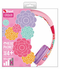 TRUST 20954 SPILA FLOWER COMFORTABLE CHILDS HEADPHONES, SAFE VOLUME LIMITATION