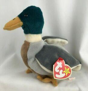 "1998 TY Beanie Babies ""Jake"" Mallard Duck Original PE Pellets Red Stamp 402"