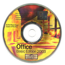MICROSOFT Office Basic Edition 2003 con Product Key-Word EXCEL OUTLOOK