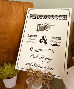 A4 Wedding signs. Brown, cream, or white. Wedding / Party. Various choices