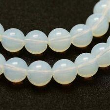 10 Mondstein Perlen Edelstein Nugget 9-12 x 5-7 mm weiß 2803
