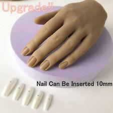 1pcs силикон практика руки для ногтей реальный человек плесень манекен модель вставка