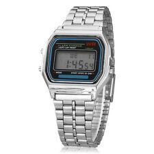 Hombre Reloj Pulsera Reloj LCD Calendario Cronógrafo Digital Aleación alarma