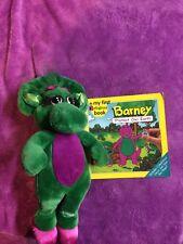 Barney the Dinosaur book Baby Bop Stuffed Animal Plush Toy Lot vintage 20yo Rare
