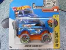 Hot Wheels 2017 #161/365 MONSTER truck DAIRY DELIVERY blue HW Art Cars