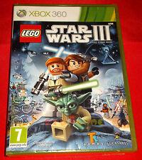 LEGO STAR WARS III 3 THE CLONE WARS XBOX 360 Versione Italiana 1ª Edizione NUOVO