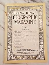 ANTIQUE NATIONAL GEOGRAPHIC - August 1918, Vol. 34, No. 2