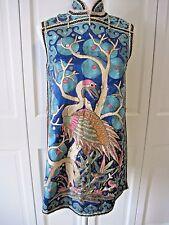 Antique Chinese Embroidered Robe Vest Stork Flamingo Crane China