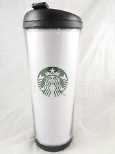 Starbucks Hot or Cold Travel Mug Tumbler, White with Green Logo
