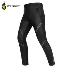 Winter Sports Cycling Tights Thermal Fleece Warm Windproof Trousers Men's Pants