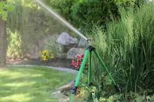 Adjustable Impact Tripod Sprinkler Sprays Up To 85 Feet In Diameter 5,670 Sq Ft.