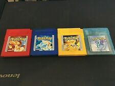Pokemon Red, Blue, Yellow and Crystal Nintendo Gameboy Games