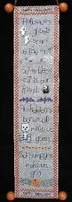 10% Off Designs by Kathy Counted X-stitch chart - A Halloween Bellpull