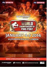 2014 Campeonato Mundial de Ping Pong programa oficial: Tenis De Mesa/Ping Pong