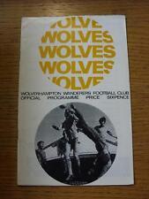 11/05/1968 Wolverhampton Wanderers V Tottenham Hotspur (piegati, Penna segno sul co