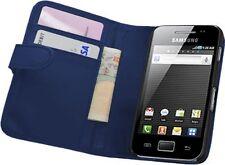 BLUE Wallet Leather Case cover for Samsung Galaxy ACE LA FLEUR / ACE VE