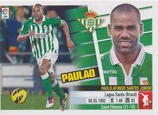 N°05 PAULAO # BRAZIL REAL BETIS STICKER PANINI ESTE LIGA 2014
