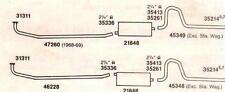 1968-69 CHARGER, ROADRUNNER, GTX & CORONET DUAL EXHAUST, ALUMINIZED, 383 ENGINES