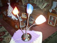 """TABLE LAMP-3 FLEX NECKS -OUR PATRIOTIC COLORS-20 1/2"""" H"""