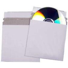 100 CD Cardboard Sleeves Peel and Seal Envelopes / Mailer White - 100 pack