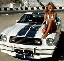 1977 Ford Mustang II Cobra w/Farrah Fawcett, Refrigerator Magnet