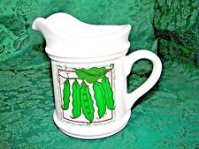 """SPRING PEAS by KEN SUTTER 1998 SIGNED SMALL PITCHER 6 1/4"""" Tall"""