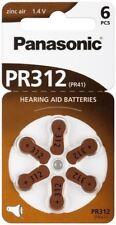 Panasonic 6x Hearing Aid PR41V312/PR41 PR312PR312 zinc-air hearing aid cell 1.4V