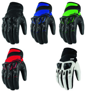 Icon Konflict Leather/Textile Mens Motorcycle Gloves - Pick Size / Color