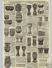 1906 PAPER AD Yellow & Rockingham Ware Green & White Glazed Chamber Pot Rookwood