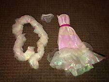 Crystal Barbie Vintage Dress w/Super Star Era Boa & Underwear