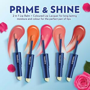 VASELINE PRIME & SHINE DUAL END LIP BALM LIPGLOSS SCARLET PLUM RED OR WARM NUDE