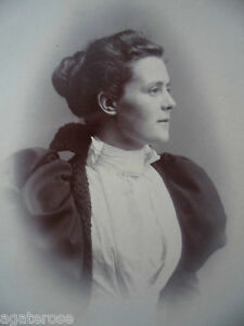 ANTIQUE OLD VINTAGE CABINET PHOTO PORTRAIT OF LADY NAMED FRANCIS CHAMBERS