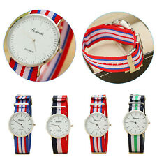 Geneva Men Simple Watches Slim Stripes Vogue Casual Analog Quartz Wrist Watches