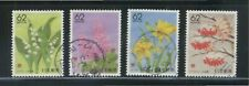 JAPAN 1991 (PREFECTURE) HOKKAIDO SEASONAL FLOWERS SET 4 STAMPS SC#Z96-Z100 USED