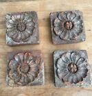 Heavy Decorative Victorian Bricks, Salvage, Set Of Four, Poulton & Son, Reading